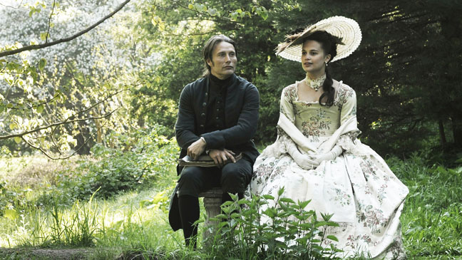 "Mads Mikkelsen and Alicia Vikander star in Nikolaj Arcel's ""A Royal Affair"""