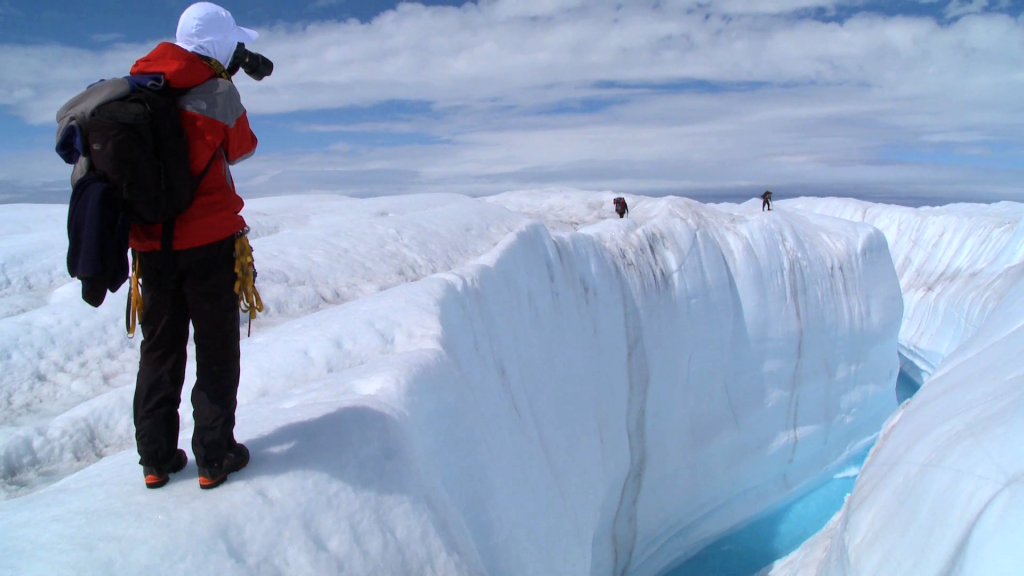 "A scene from the documentary ""Chasing Ice,"" featuring James Balog. Directed by Jeff Orlowski."