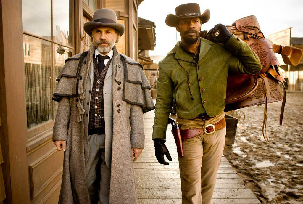 "Christoph Waltz and Jamie Foxx star in ""Django Unchained"""