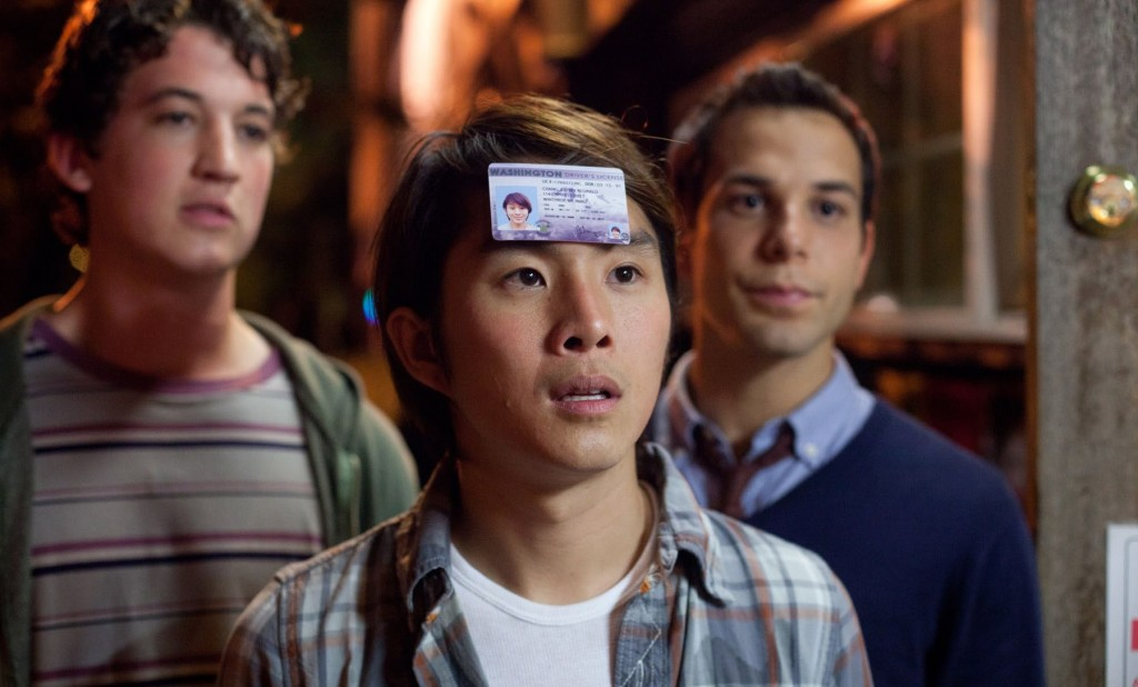 "Miles Teller, Justin Chon, and Skylar Astin star in Jon Lucas and Scott Moore's ""21 and Over,"" reviewed here by film critic James Frazier."