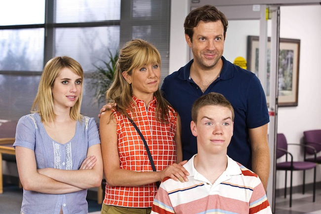 "Emma Roberts, Jennifer Aniston, Jason Sudeikis, and Will Poulter star in ""We're the Millers,"" here reviewed by film critic James Frazier."