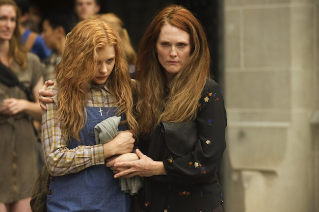 "Chloë Grace Moretz and Julianne Moore star in Kimberly Peirce's remake of ""Carrie,"" here reviewed by film critic Danny Baldwin."