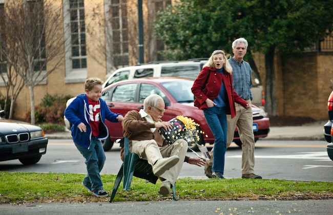"Johnny Knoxville reprises his role as Irving in ""Jackass Presents: Bad Grandpa,"" here reviewed by film critic James Frazier."