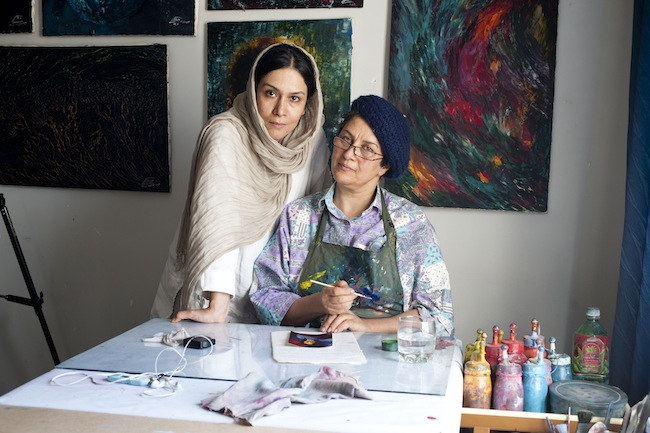 "Iranian filmmaker Maryam Sepehri (left) won an award at the 2013 Milwaukee Film Festival for ""Habibeh,"" a documentary about painter Habibeh Bedayat (right)."