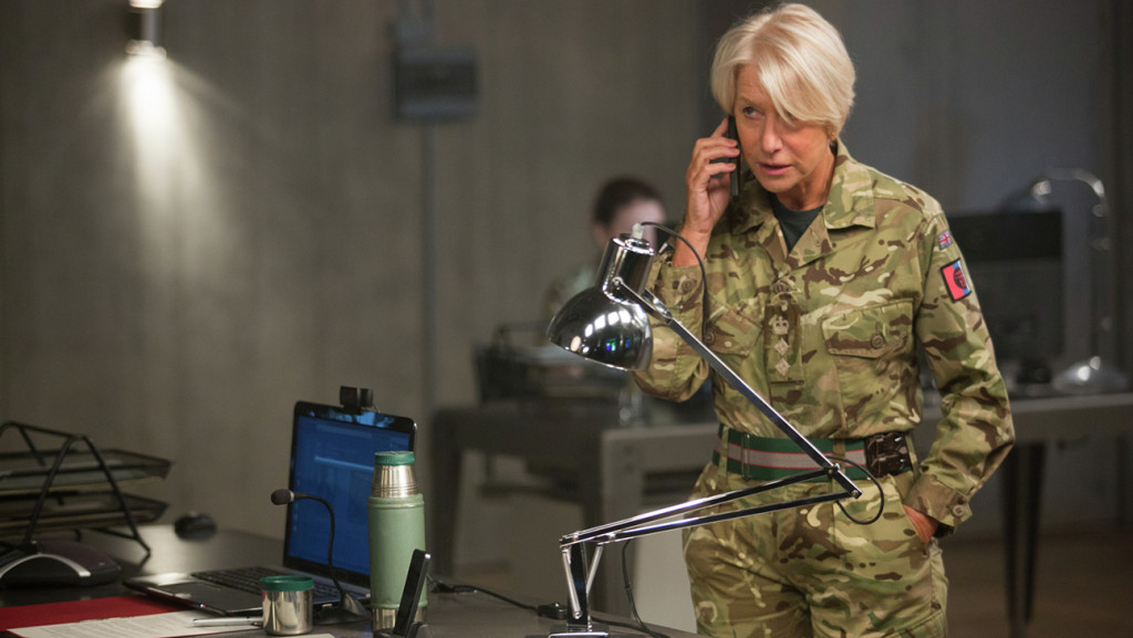 "Helen Mirren stars as Col. Powell in Gavin Hood's ""Eye in the Sky,"" here reviewed by film critic Danny Baldwin."