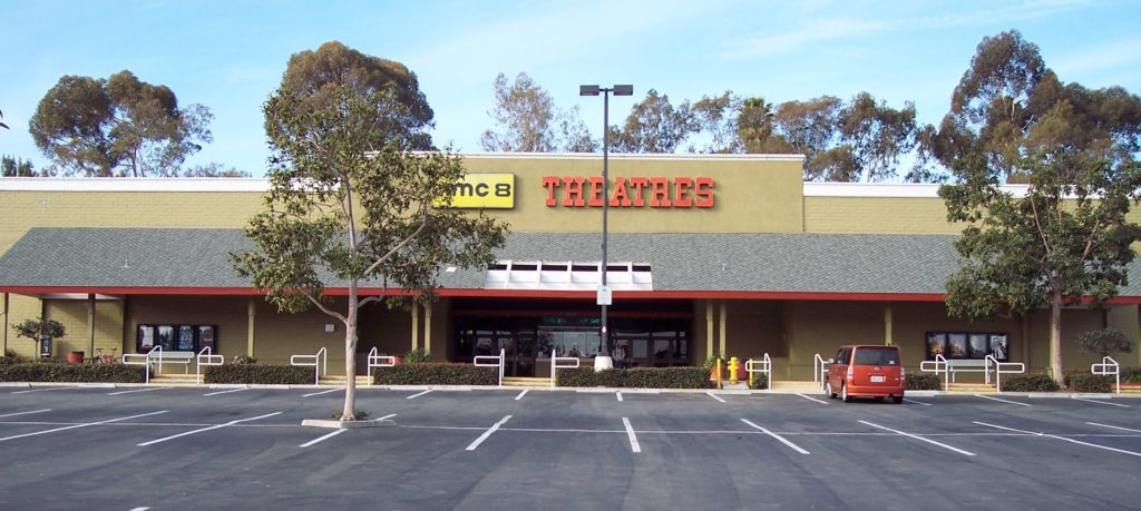 The exterior of the AMC Encinitas 8, which closed January 28, 2007.
